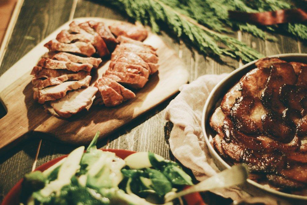 A Festive Friendship Feast for the holidays- potatoes anna + fennel salad