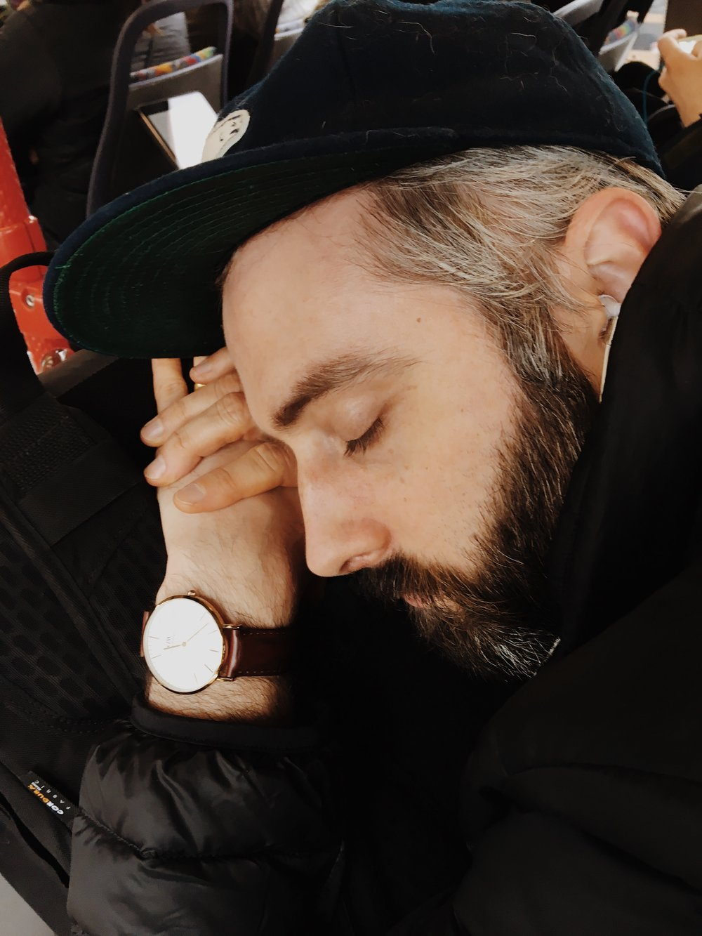 sometimes i'm a jerk and take photos of my sleeping husband