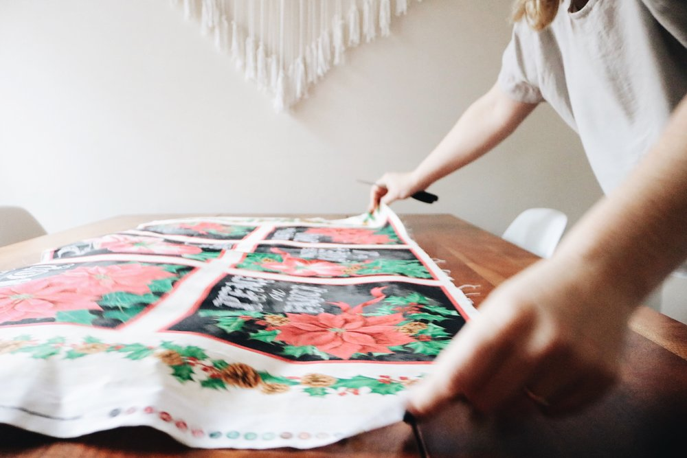 Christmas fabric for appliqué DIY