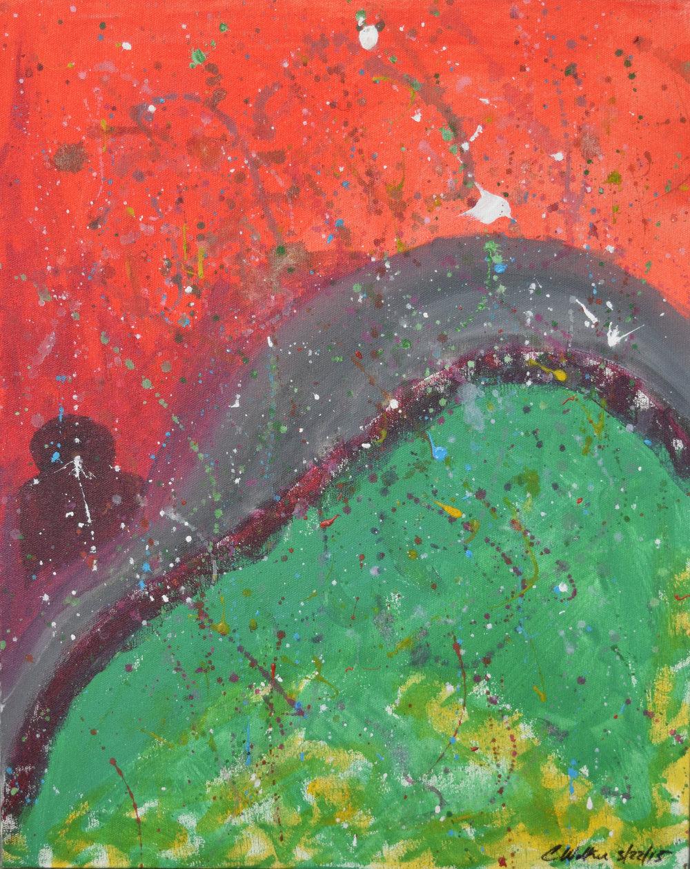 """BRIDGE"" 16x20, Acrylic on Canvas"
