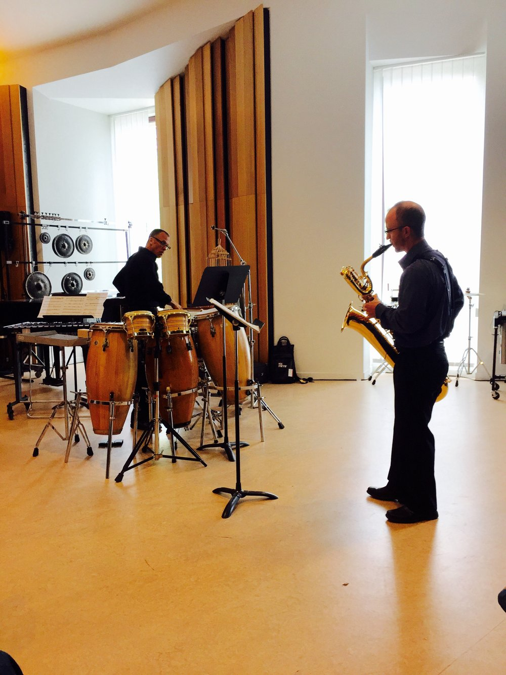 Performance with Dr. Eric Lau in Strasbourg