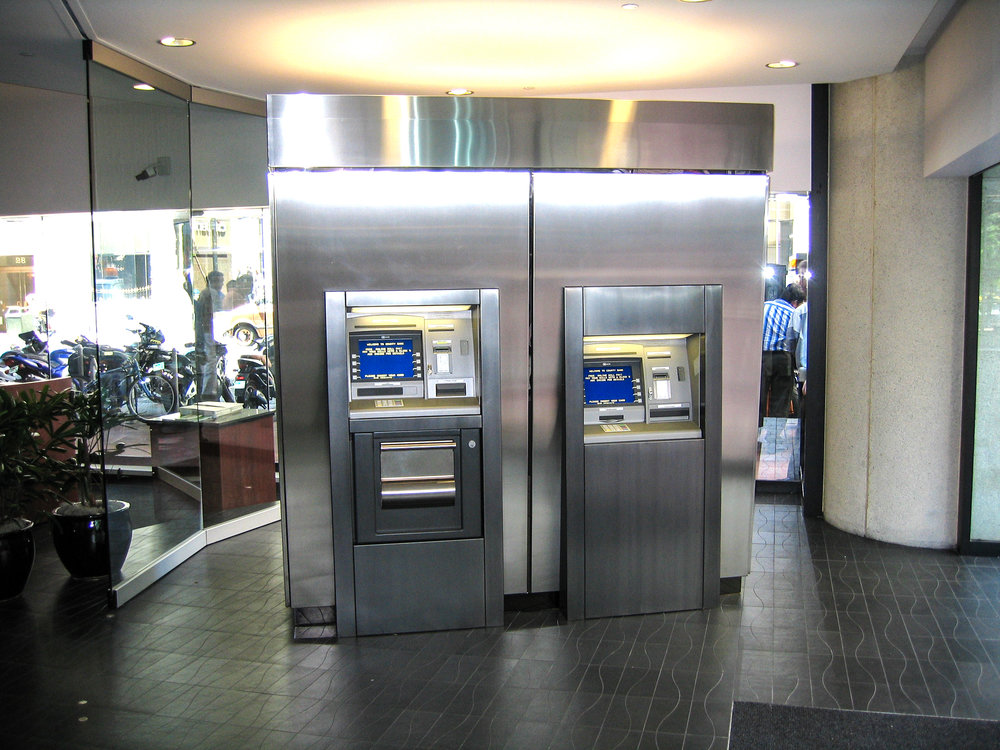 S.F. Bank: Photo -- ATM cabinet in lobby