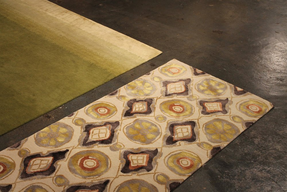 A transitional flooring concept like Mirage allows for use of other bold patterns within the same space, while maintaining a crisp level of interest in what's underfoot.