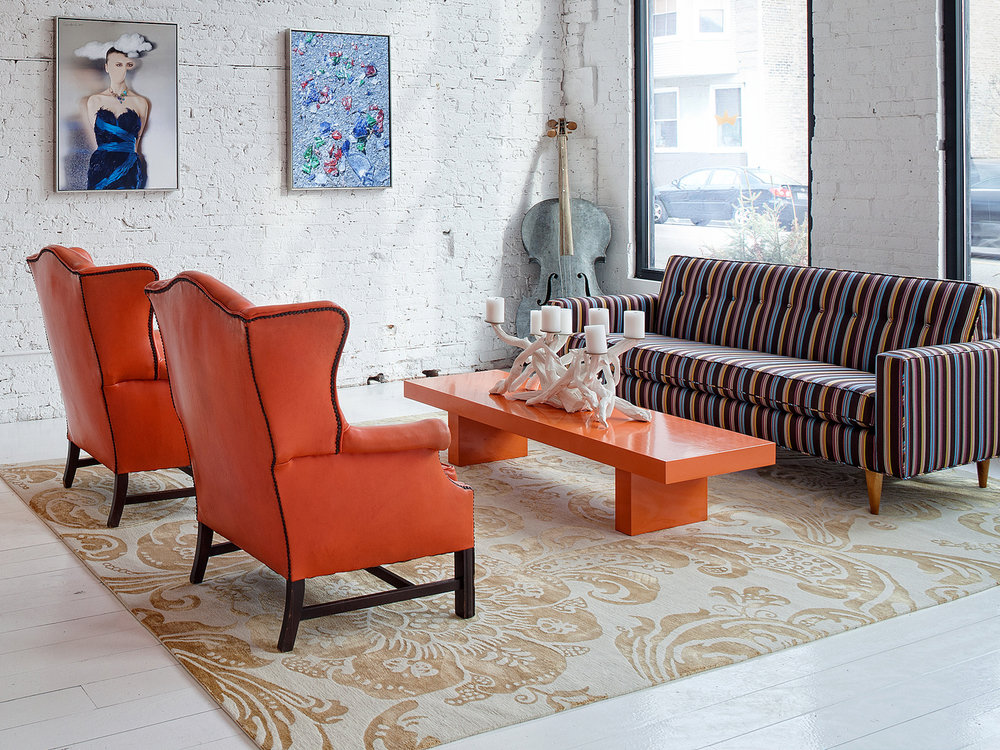 Designer: Buckingham Location: Buckingham Office, Chicago Rug Design: Anthemion