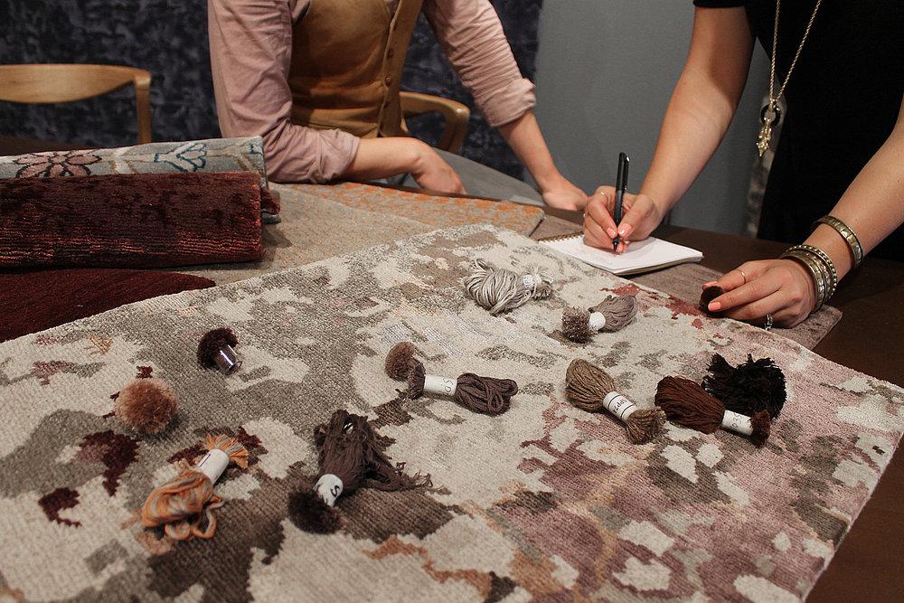 Lapchi's expert rug designers