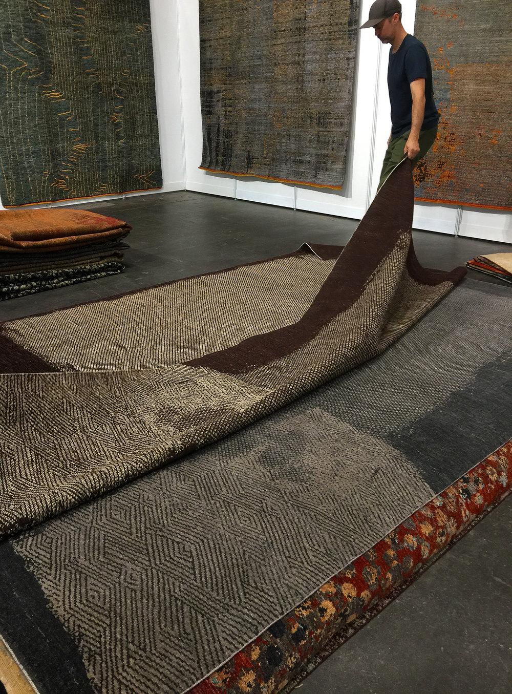 At the Rug Show in New York, 2017