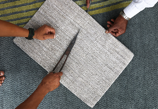 "Our Textures selection of Handloom Weave breaks through the ""standard"" and offers a product range in an unusual combination of high end raw materials, extraordinary textural surfaces and super variegated colors."