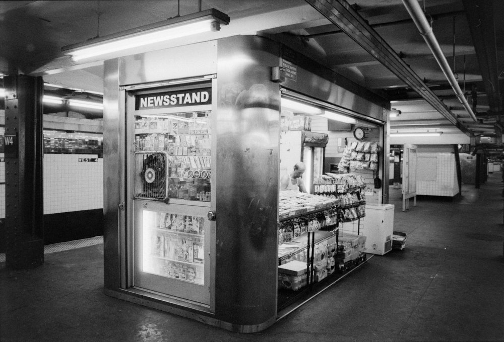 Newsstand - Illford HP5+ Pushed +2
