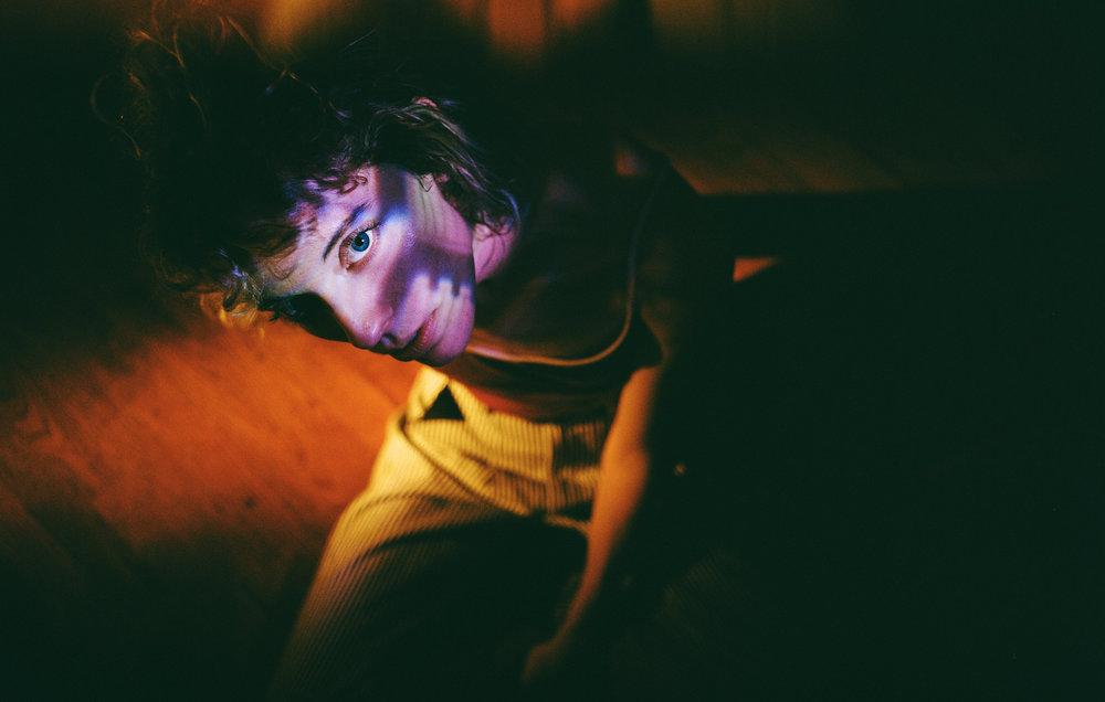 Mallory under a flashlight & prism - Kodak Portra 400