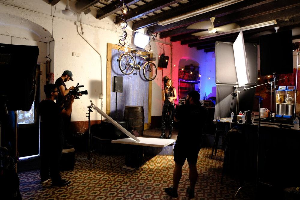 Shooting with Calma Carmona at Factoria in San Juan, PR