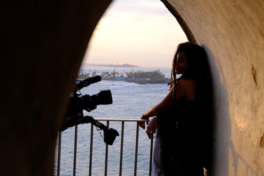 Shooting with Calma Carmona at San Morro in San Juan, PR