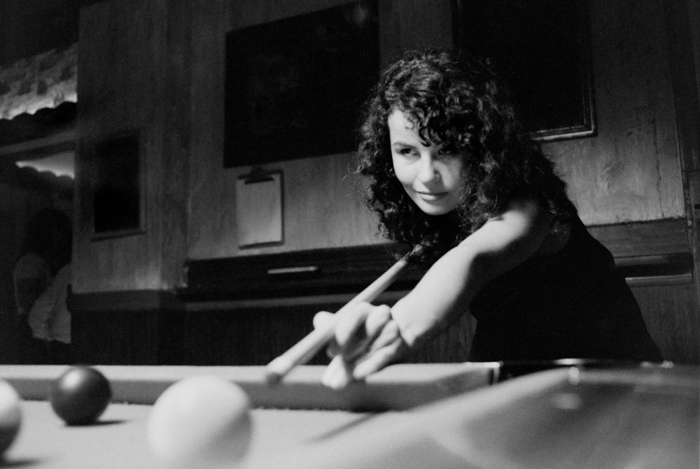 Playing pool with Rosa