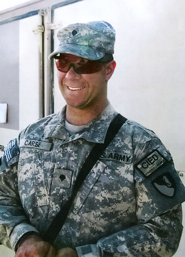 U.S. Army Corporal Nathan B. Carse, 32, of Harrod, Ohio, assigned to the 2nd Engineer Battalion, 176th Engineer Brigade, based out of White Sands Missile Range, New Mexico, died in Kandahar, Afghanistan, on February 8, 2011, from wounds suffered when insurgents attacked his unit using an improvised explosive device. He is survived by his mother Janis and sisters Megan Brown and Kristin Purdy.