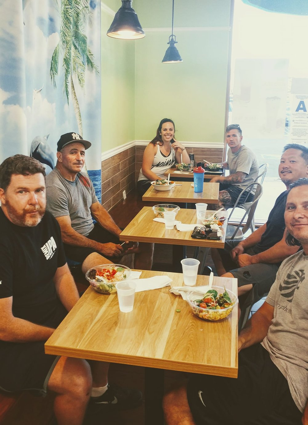 CrossFitters who workout together, eat Poke together...