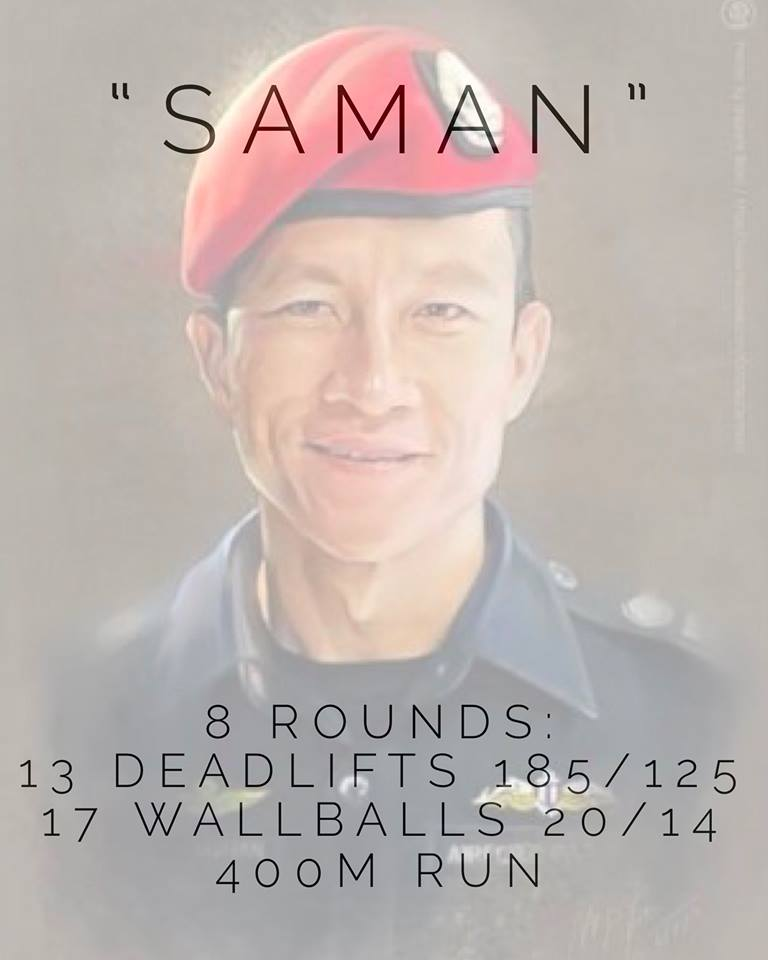Courtesy of WOD NATION:  If you have been following the story about the Thai boys that were stuck in the cave for 17 days, its been a huge success because they all got out ALIVE!  But sadly one man, a Thai Navy Seal - Saman Kunan died during this mission to rescue the boys. We found this dedicated  #herowod at Crossfit Chiang Mai.  The workout explained is 8 rounds because the kids were 3.2 km inside the cave 400m x 8 =3.2   13 for the boys and their coach  17 for the how long they were trapped inside the cave