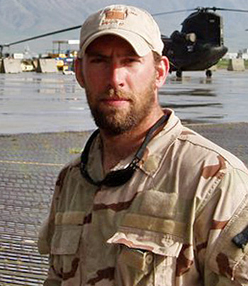 In honor of Petty Officer 1st Class Jeff Taylor, 30, of Midway, West Virginia, who was killed on June 28, 2005, while conducting combat operations in the vicinity of Asadabad, Afghanistan, in Kumar Province.  He is survived by his father, John; mother, Carrie; and wife, Erin.