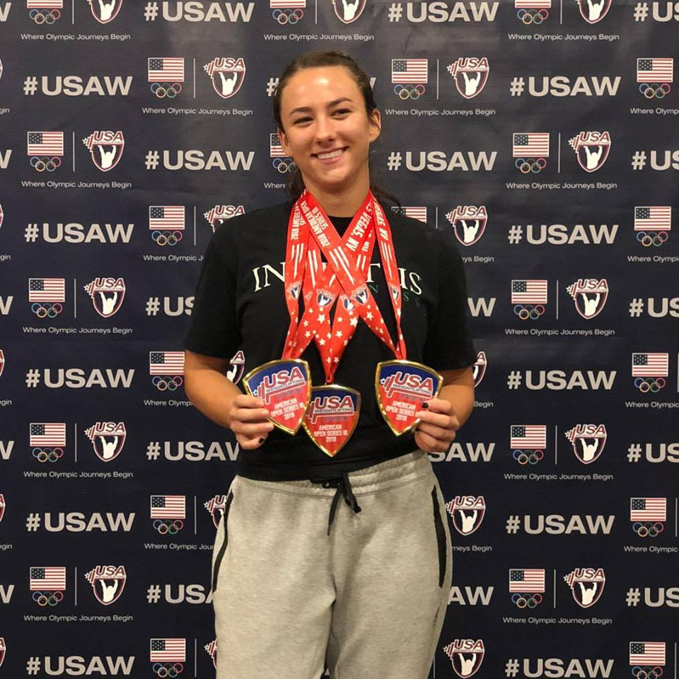Great job Devyn Kim at the American Open 3. 1st place on the Snatch, 1st place on the Clean and Jerk and 1st place over all!!