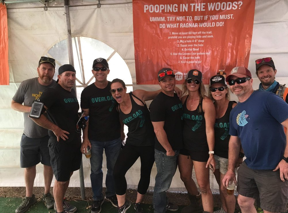 """Ragnar 2018, this is a stellar team right here. Everyone is a team player, you could not ask for better!  It was freezing, no exaggeration, 29° at night. The computers that tell you when your runner was coming in were down most of the time and there was no campfire due the fire risk. Even given the challenges everyone was where they were supposed to be for the transitions and no one complained about the cold, they just managed the challenge. There were lots of laughs and support for each other. Everyone brought their A game and pushed their limits. It was truly an honor to captain this team. A special thank you for the space heaters, propane and tarps, they were life saving!"" ~Coach Penny"