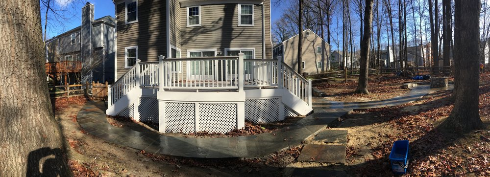 Residential Masonry, Deck, Fire Pit