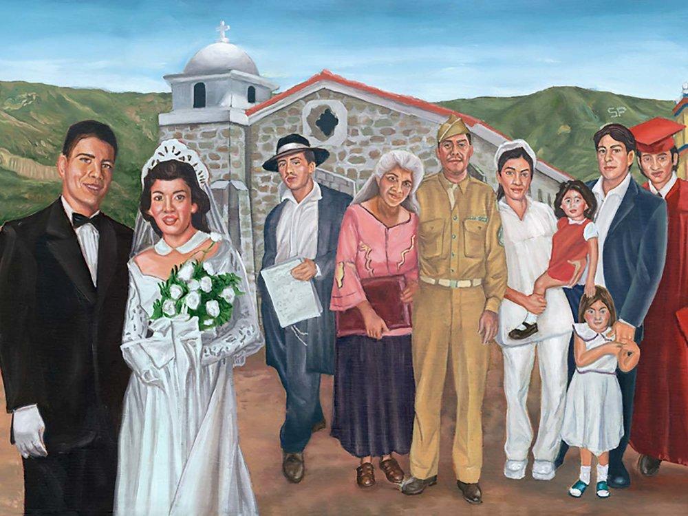 Santa Paula Mural Latino Culture Detail