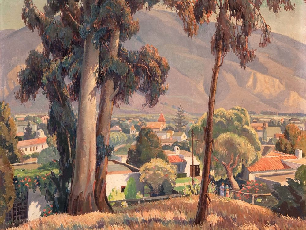 """Santa Paula"" by Cornelis Botke, Part of the Santa Paula Civic Art Collection"