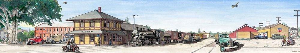 Transport in Time and Place Mural Santa Paula California