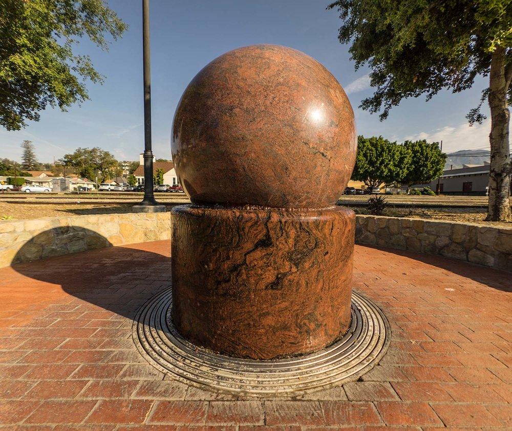 Floating Granite Ball Monument Santa Paula, California