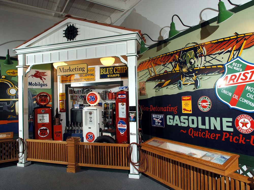 Permanent exhibit at the California Oil Museum