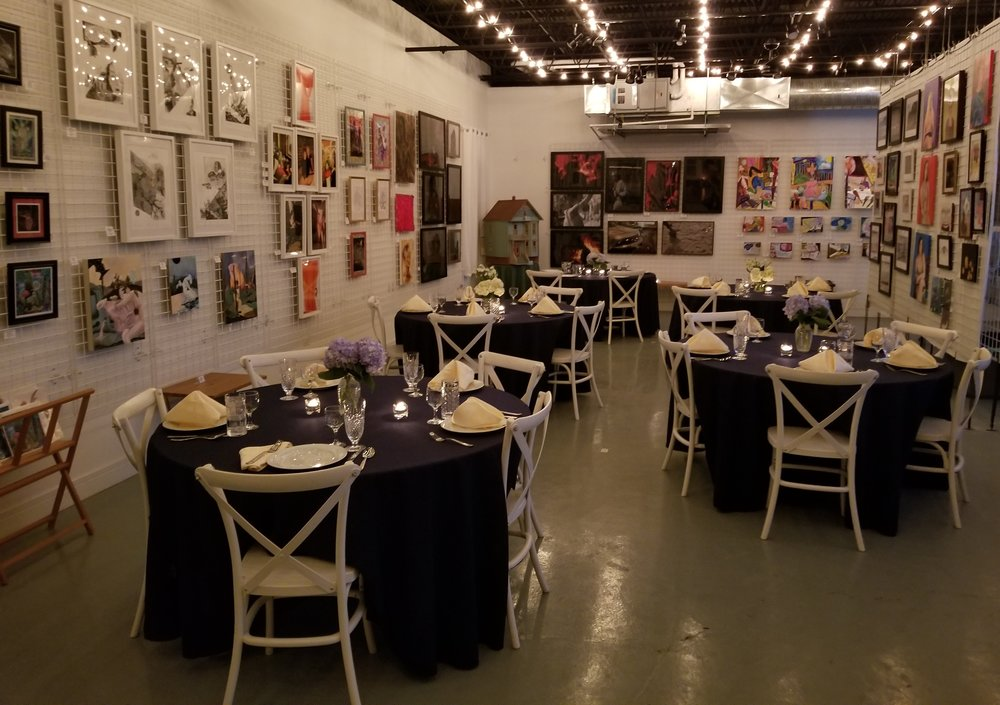 Wedding Receptions - Our gallery offers a sophisticated, intimate venue for receptions and is the perfect place to celebrate your special day.