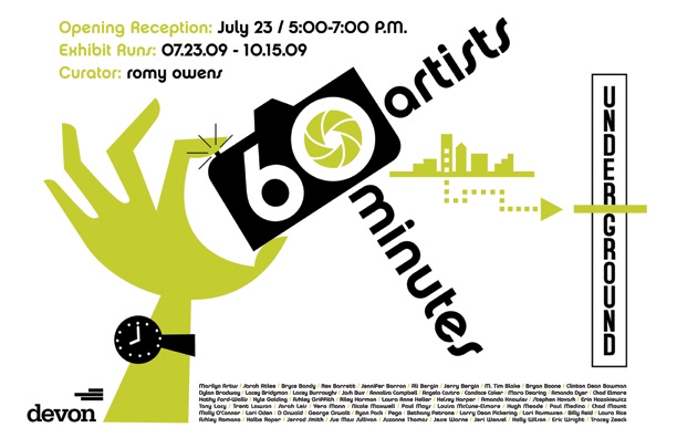 60 Artists : 60 Minutes flyer