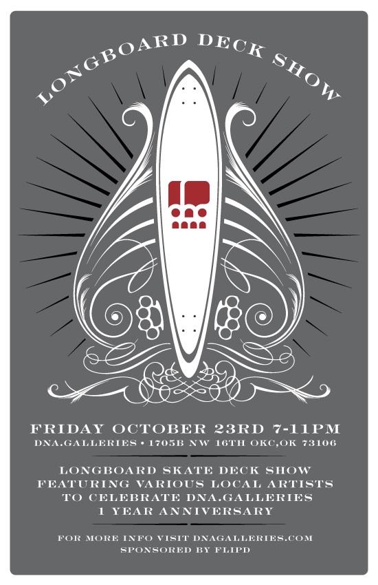 Longdecks show poster designed by Dylan Bradway