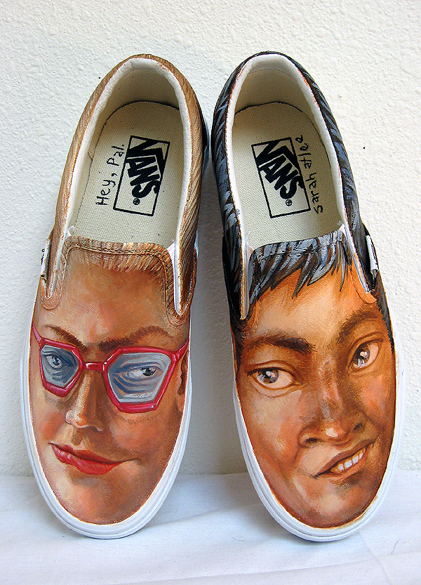 Hey Pal, acrylic on Vans, 2008