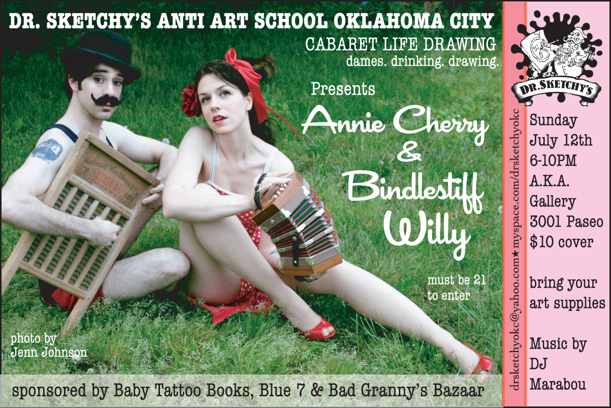 Dr. Sketchy's OKC with Annie Cherry and Bindlestiff Willie, 2009.07.12