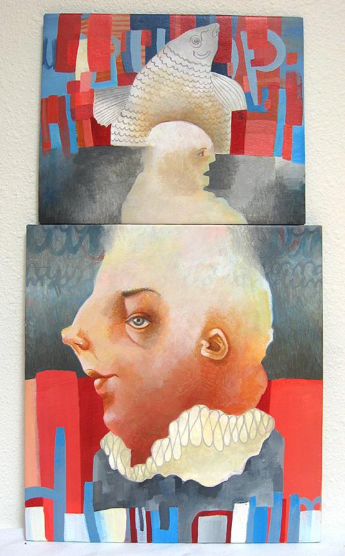 DumDum, acrylic on canvas, 2008 by Sarah Atlee