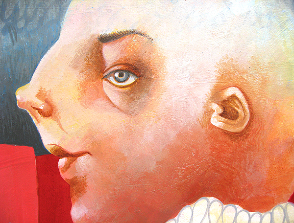 Dum Dum (detail view), acrylic on paper, 2008