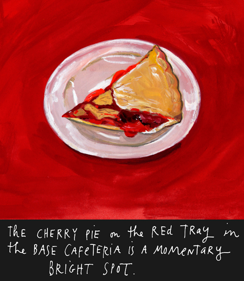 Illustration of Cafeteria Cherry Pie by Maira Kalman, 2009