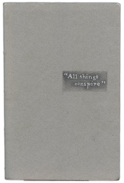 Cover of All Things Conspire, collaborative sketchbook between Sarah Atlee and Karo Design.