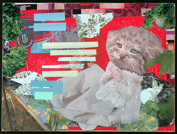 Maquette for Sparky, collage, 2004 by Sarah Atlee