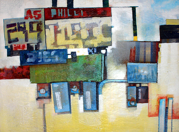 Philli I, acrylic on plywood, 2007