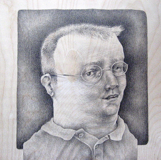 Normal, OK: Stroud Drumright, graphite on wood, 2008