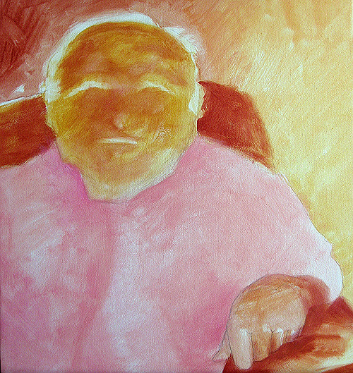 Charlie (layer 1), acrylic on canvas, 2008 by Sarah Atlee