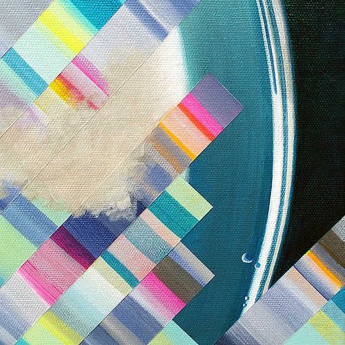 Martini: Head Clog II (Detail view 2). Acrylic on canvas, 24 x 2