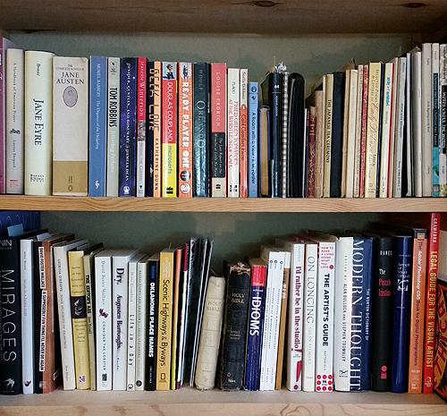 bookshelf middle