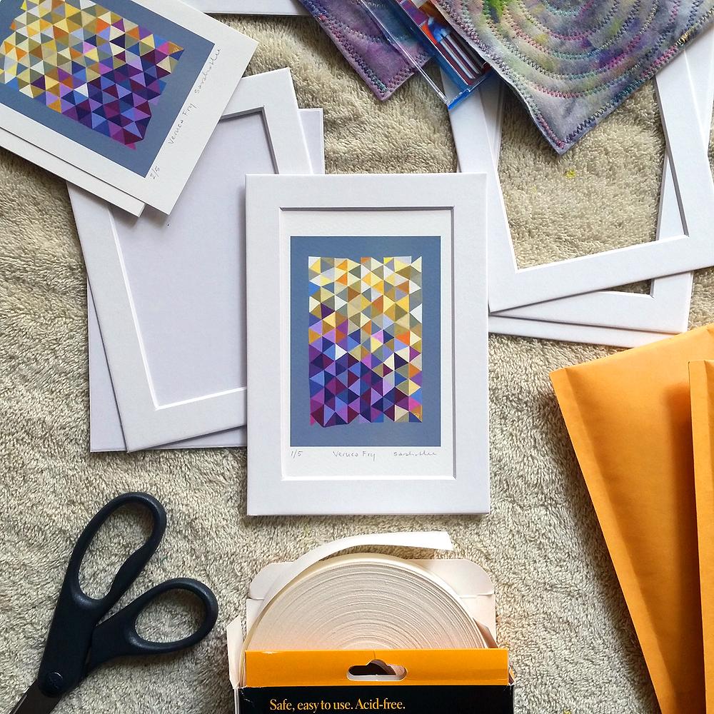 mounting prints