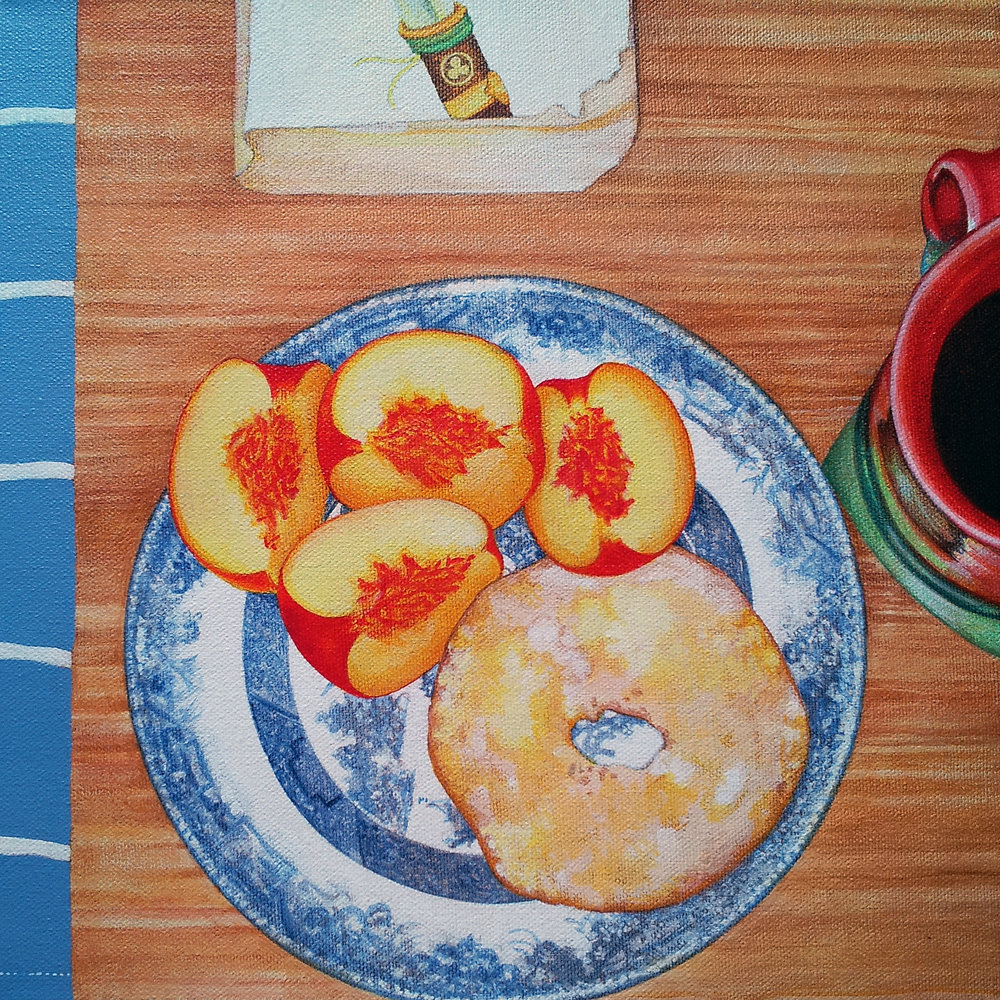 Breakfast: Peaches, Coffee, Shogun | SOLD