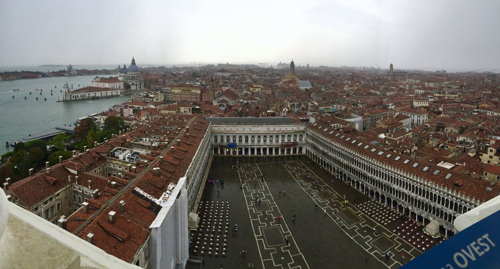 The view at the top of Campanile di San Marco