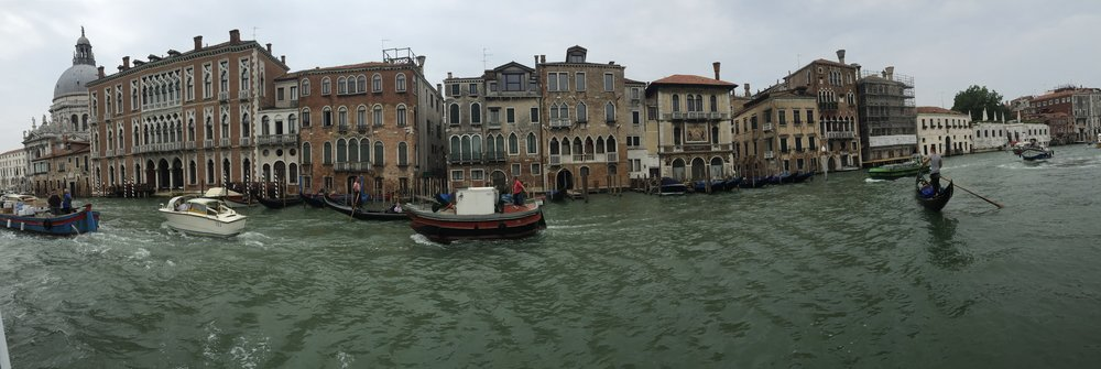 TAKING THE VAPORETTO THROUGH THE GRAND CANAL
