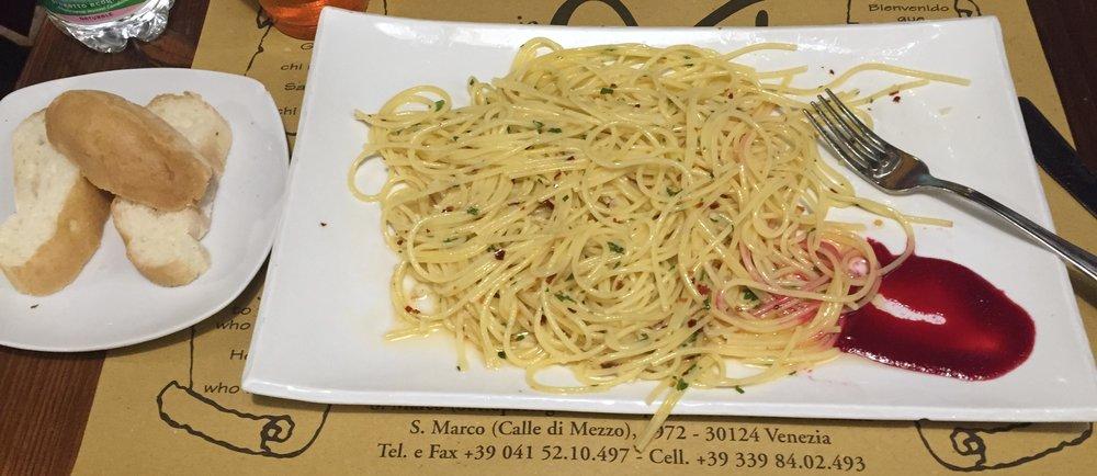 Gluten free pasta and bread,Trattoria Al Gazzettino