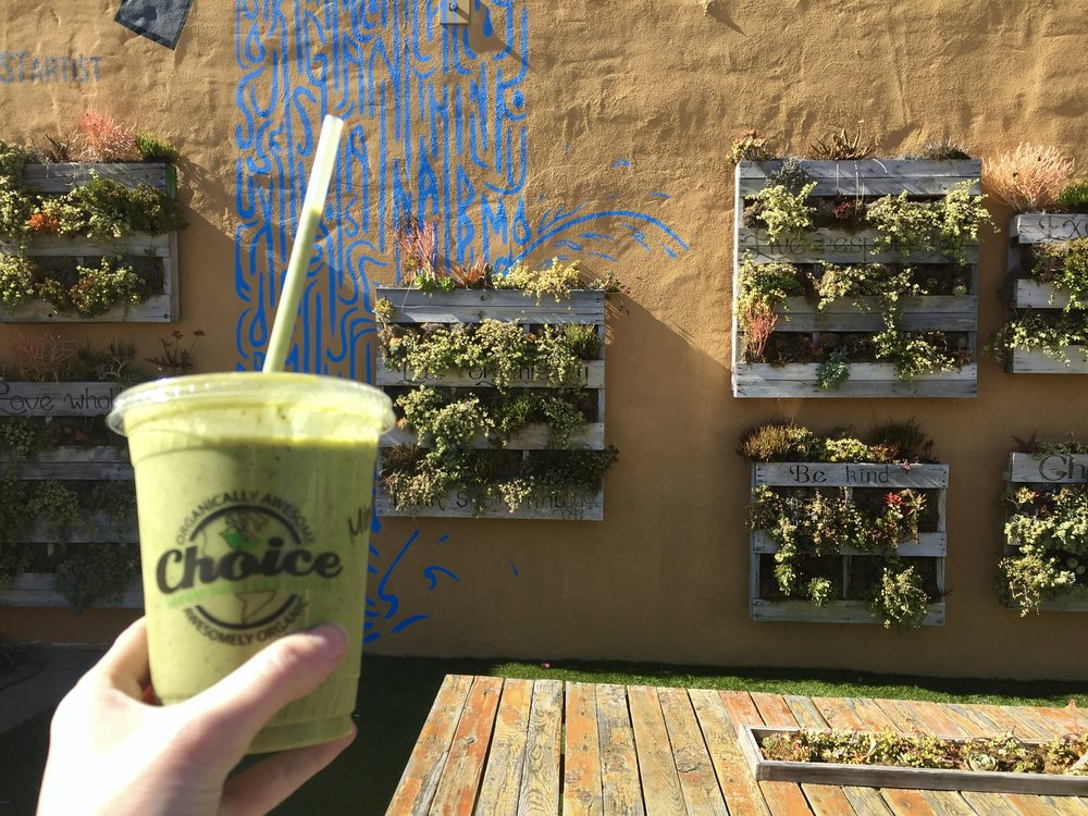 such a cute spot to enjoy your lunch, choice juicery