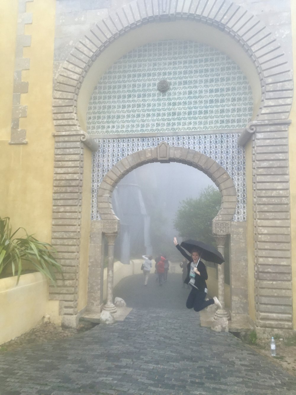 Exploring pena Palace with the craziest weather